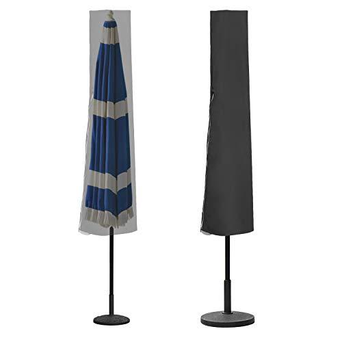 BMOT Sonnenschirm Schutzhülle für Ø 300cm-350cm Standschirm und Gartenschirme,Outdoor Abdeckung für Sonnenschirm/Regenschirm, Ampelschirm Hülle wasserdichte