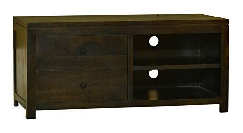 MiaMöbel Lowboard Ashoka 120x55x56 cm Kolonialstil Massivholz Akazie Walnuss