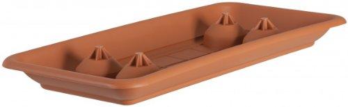 Untersetzer für Pflanztrog PLATO rechteckig aus Kunststoff, Farben:terracotta 06;Länge:80 cm