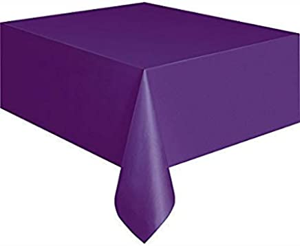 Mountclear 12 Pack Disposable Plastic Tablecloths   54 X 108 Inch Size  Table Cloth (