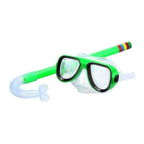 PPuujia Gafas de natación para niños, gafas de natación, buceo, tubo de respiración, 4 colores, natación, deportes acuáticos, gafas de buceo, para niños y niñas (color: rojo)
