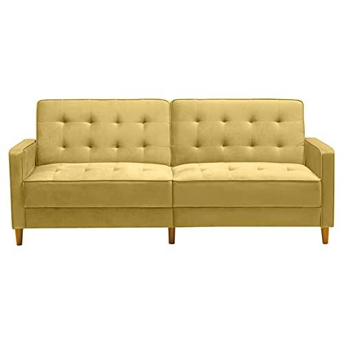 Divano in velluto divano quadrato, velluto moderno, divano letto imbottito (78'LX37' WX34'H), Giasti, Gambe in legno massello, per soggiorno