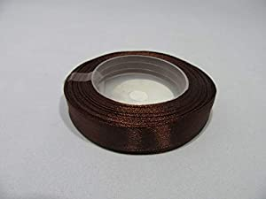 "1 Roll x 12mm 1/2"" Satin Ribbon Chestnut Brown minimum 13 metres"
