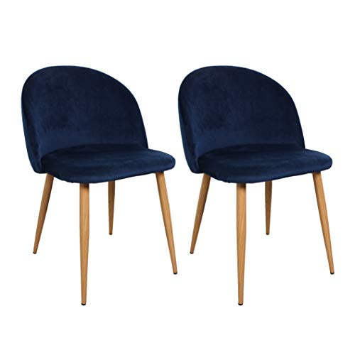 Nimara Lot de 2 Chaises en Velours au Design scandinave, Chaise de Salle à Manger et Chaise de Cuisine en Tissu, Chaise de Salle à Manger
