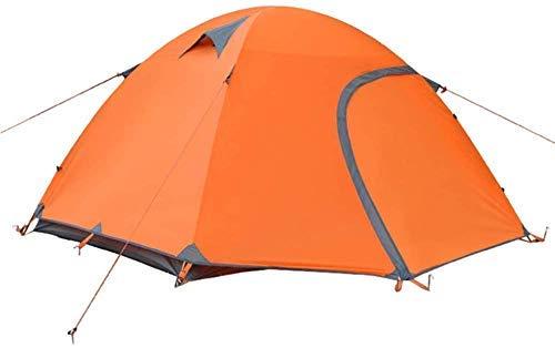 YUQIYU 2-3 Personas Tienda de campaña al Aire Libre Carpas Material Impermeable Sombra del pabellón de Senderismo Montañismo (Color : Orange)