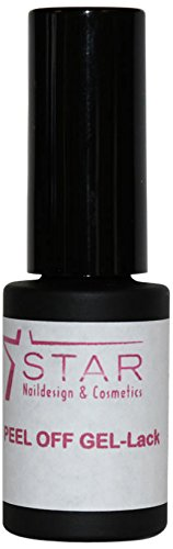 Star Naildesign & Cosmetics Peel Off UV/LED Gel nagellak effect violet verwijderbaar, per stuk verpakt (1 x 6 ml)