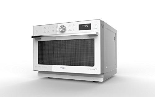 Whirlpool MWP 339 SW magnetron Supreme Chef Thermobeluchtet combi, 33 liter, wit met Double Steamer, hoge grill, krisp plat + handvat