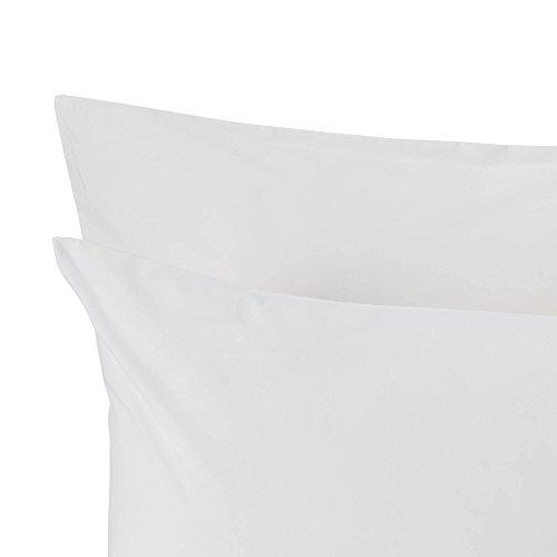 """URBANARA Kissenbezug """"Manteigas"""" – 100% Reine Bio-Baumwolle, Weiß – 80 x 40 cm, einzelne Kissenhülle"""
