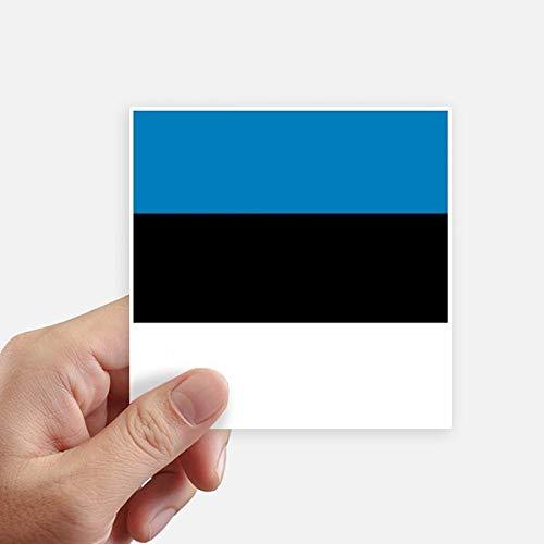 DIYthinker Drapeau National Estonie Europe Country Square Autocollants 10CM Mur Valise pour Ordinateur Portable Motobike Decal 8Pcs 10Cm X 10Cm Multicolor