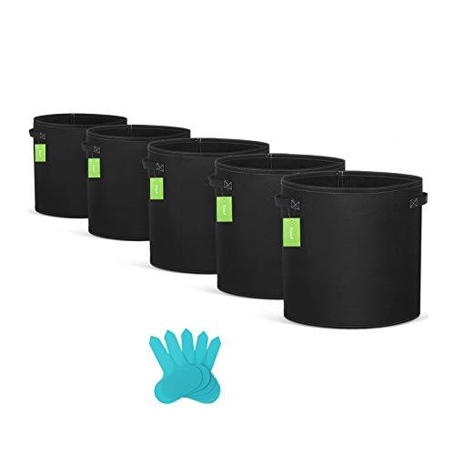 Essort Sac de Plantation - 5 Pièces 7 Gallons Sacs de Culture pour Plantes en Tissu Non-tissé Sacs à Plantes de Jardin pour Pommes de Terre Légumes Herbs