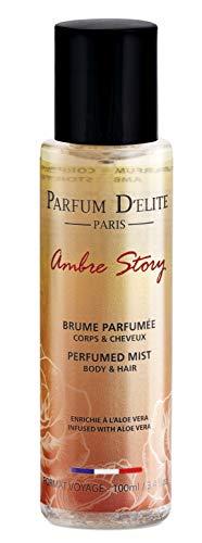 Parfum D'Elite Paris - Ambre Story - Duftendes Bodyspray für Körper und Haar - Für Damen - Mit reichhaltiger Aloe Vera - Lang anhaltend - 100 ml