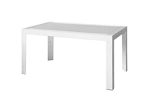ARETA ARE054 Tavolo, Modello Urano, Bianco, 140 x 80 x 72 cm
