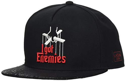 Cayler und Sons Unisex-Adult Enemies Snapback Cap, Black/red, Einheitsgröße