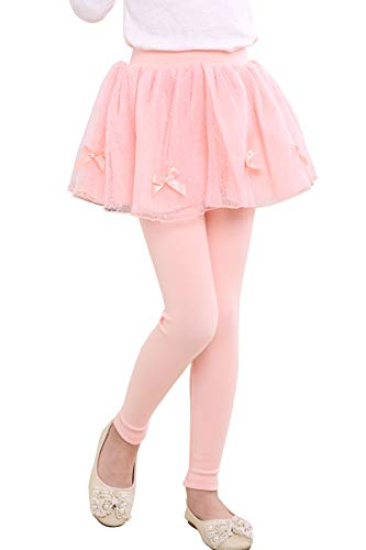 Waprincess 2019 Fall Winter Spring Baby Little Girl Kids Toddlers Pants Outfit Leggings Skirt-Pants (11-12 Years, Bowknot Pink)