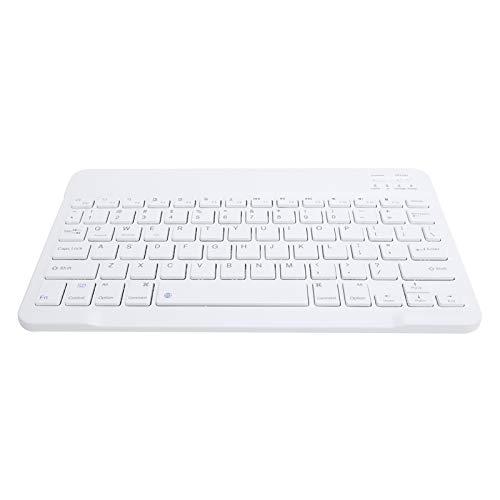 Hyuduo1 Teclado Bluetooth inalámbrico, Mini Teclado Bluetooth portátil de 13 Pulgadas y 78 Teclas Batería incorporada, Cómodo Teclado Bluetooth ultradelgado para tabletas