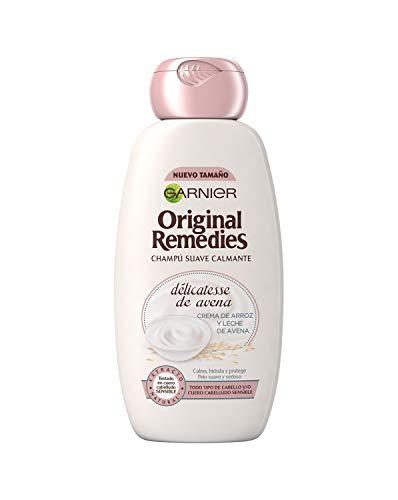 Garnier Original Remedies Delicatesse de Avena Champú para Cuero Cabelludo Sensible y Normal - 300 ml