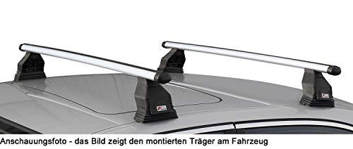 MENABO Dachträger Tema kompatibel mit Mercedes C-Klasse W205 (Stufenheck 4 Türer) ab 2014 Alu