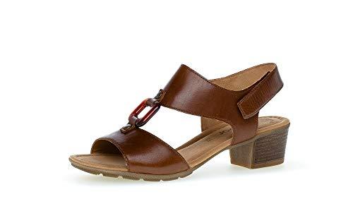 Gabor Damen Sandalen, Frauen Sandaletten,Best Fitting,Absatz,weiblich,Lady,Ladies,Women's,Woman,Sandaletten,Sommerschuhe,Peanut,39 EU / 6 UK