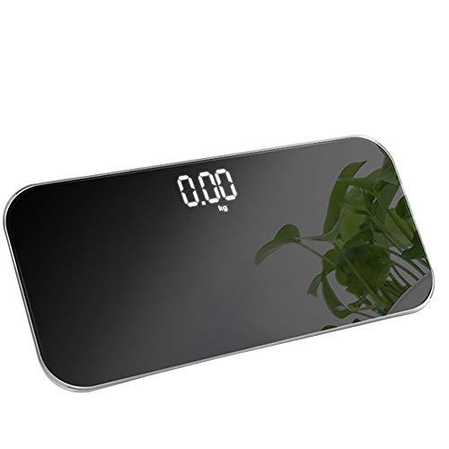 YALIXI Báscula de pesaje, báscula electrónica portátil, mini balanza de cuerpo de vidrio templado, se puede utilizar como espejo, soporte plegable en la parte posterior, 180 kg/369lb
