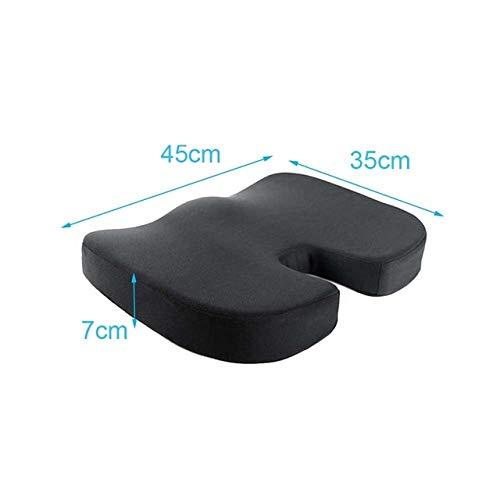 OLI Comfort Butt Latex Seat dubbel zitkussen multifunctioneel traagschuim Hip Lift zitkussen Mooi heupkussen voor thuis 31 * 45 * 10 cm zwart
