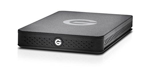 G-Technology G-Drive ev Raw - Disco Duro Resistente y Ligero (USB 3.0), 2 TB, Negro/Azul miniatura