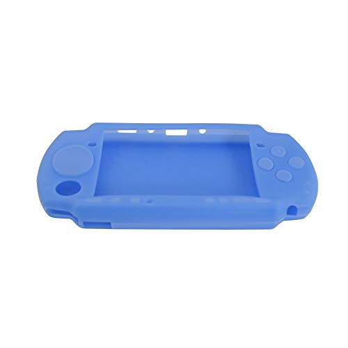Protective Soft Rubber Silicone Skin Case Cover for PSP 2000 3000 Blue