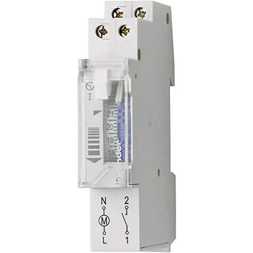 Finder 121182300000Pas - Interruttore Orario 24 H Meccanico 1 No 16 a 230 V con Riserva, Grigio