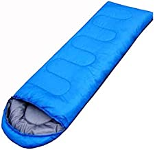 Outdoor camping summer camping sleeping bag lunch 200g envelope hooded sleeping bag blue