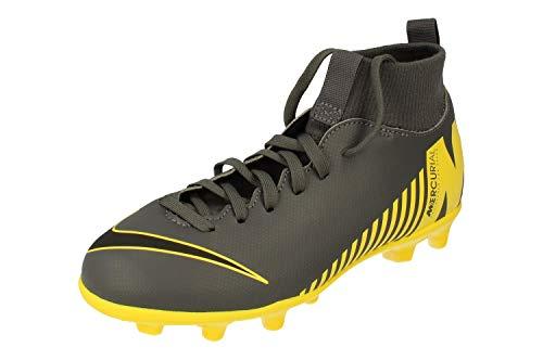 Nike Junior Superfly 6 Club MG Botas de Futbol AH7339 Soccer Cleats (UK 4 US 4.5Y EU 36.5, Dark Grey Black OPTI Yellow 070)
