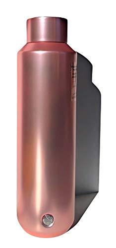 Metallisch-rosa schillernde Edelstahl-Wasserflasche Urlaub 2020, 590 ml
