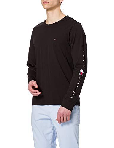 Tommy Hilfiger Herren Essential Tommy LS Tee T-Shirt, Schwarz, M