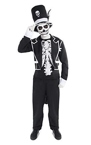 Orion Costumes Men's Dark Magic Witch Doctor Skeleton Suit And Top Hat Halloween Fancy Dress Costume…