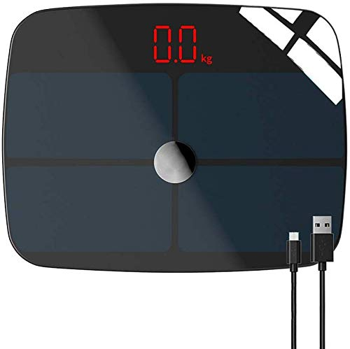 Intelligente digitale badkamer weegschalen lichaamsbouw, lichaamsvet weegschalen Bluetooth, precisie weegschalen Analyzer voor gewicht en gezondheid monitoring gegevens (kleur : A)