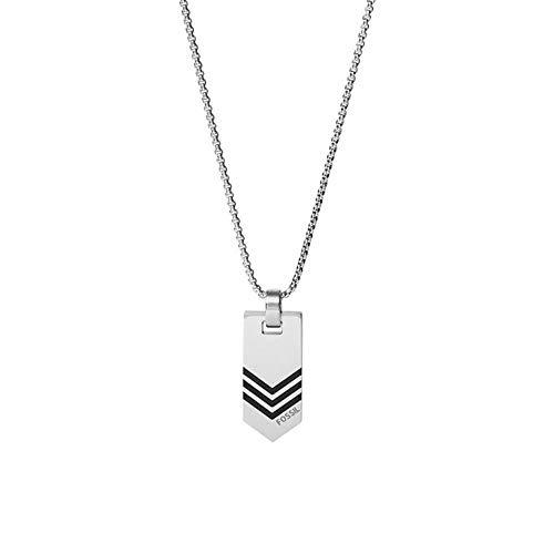 Fossil Herren-Halskette mit Anhänger Edelstahl JF03394040