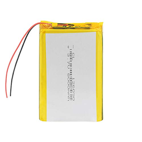 wangxiaoping 3.7V 8000mAh Li-polymer Battery 126090 PCB For Tablet PC DVD GPS Li-Po Lithium Li-polymer Battery Replacement Battery-3.7V_1 x Battery