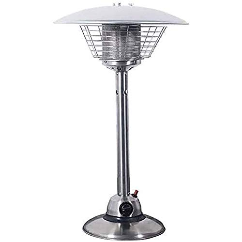 ASDFG Outdoor Heater Patio Heater Table Top Patio Heater,Outdoor Fire Pits Small Commercial Space Heater,3 Kw Stainless Steel Gas Heater