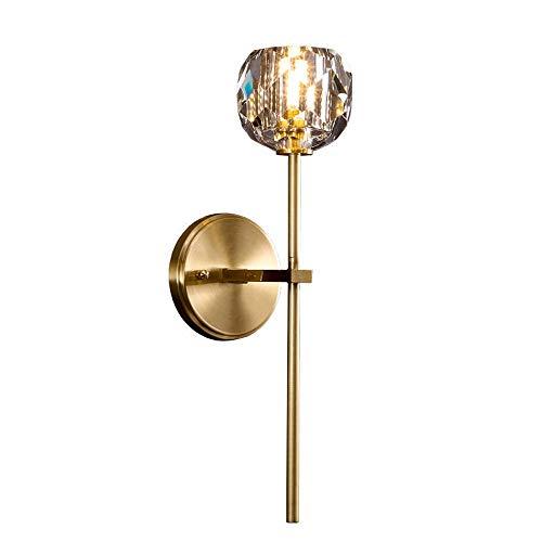 YBright Moderne kleine Wandlampe mit Kristallglas Globus Schatten Wand sconce G9 Sockel Eitelkeit Wandmontierte licht gebürstete Goldbeleuchtung für Badewanne Wohnzimmer Schlafzimmer Treppenbeleuchtun