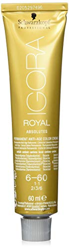 Schwarzkopf IGORA Royal Absolutes Permanent Anti-Age Color Creme 6-60 dunkelblond schoko natur, 1er Pack (1 x 60 ml)