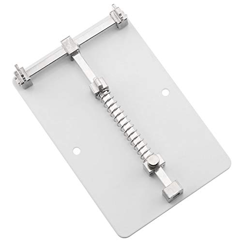 E-outstanding PCB Motherboard Holder 12x8cm Steel Adjustable Phone PCB Circuit Board Fixture Clamp Holder Repair Tool for IC Grooves Soldering Repairing