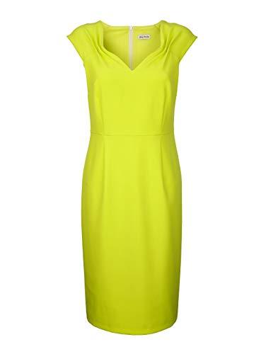 Alba Moda Kleid mit femininen Raffungen vorne und hinten an der Schulterpasse Gelb