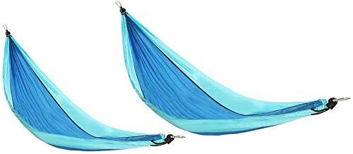 ZJDU Tiendas de campaña para Acampar Hamaca al Aire Libre Nylon Camping Colgando Cama Swing silling Doble Mosquito Red Hamaca Tienda para al Aire Libre Senderismo Mochila (Color: Azul, Tamaño: L)