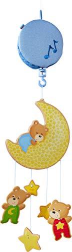 HABA 304313 - Mobile Bärchen, Babyspielzeug für den Wickeltisch, stimuliert die Sinne von Babys, ideal als Geschenk zur Geburt und Taufe