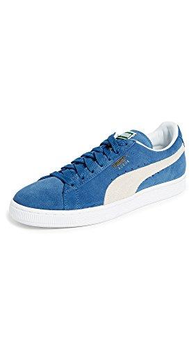 PUMA Suede Classic Sneaker,Olympian Blue/White,12 M US Men's