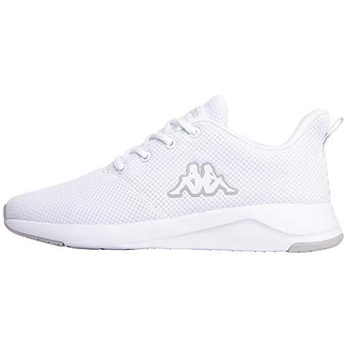 Kappa Unisex-Erwachsene Cumber Sneaker, 1014 White/l`Grey, 46,46 EU