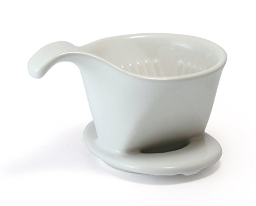 (White) - Bee House Ceramic Coffee Dripper - Small - Drip Cone Brewer