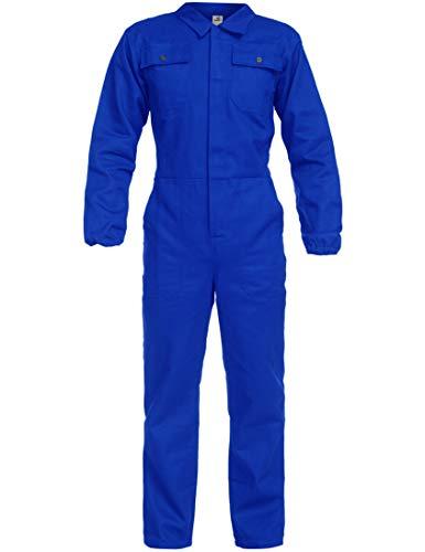 BWOLF ANAX Arbeitsoverall Herren Overall Herren Arbeitskleidung 100% Baumwolle Arbeitsoveralls mit 5 Taschen (Königsblau, 2XL)