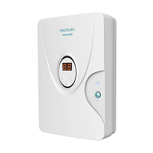 Cecotec Generador de Ozono Doméstico TotalPure 3000 Smart Ozone. Expulsión 600 MG/h, Potencia 10 W, Temporizador hasta 30 min, Incluye 2 Piedras purificadoras, Cobertura 30m2