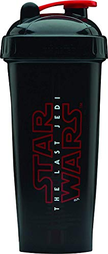 Performa Perfect Shaker - The Last Jedi Series Star Wars Collection, Best Leak Free Protein Shaker Bottle with Actionrod Mixing Technology, Shatter Resistant & Dishwasher Safe (Jedi Logo (Black))