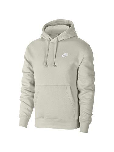 Nike Sudadera de forro polar con capucha para hombre, talla XL, color gris claro