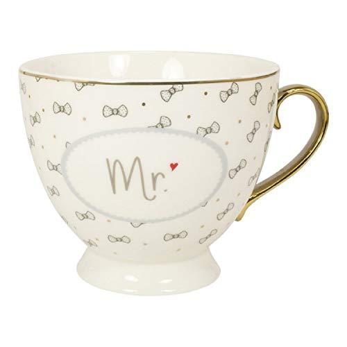 Mea Living Tasse mit Goldhenkel im Geschenkekarton Mr.